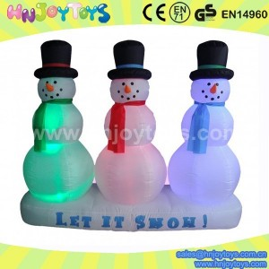 christmas inflatable snowmen family
