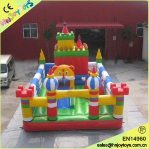 Outdoor tiger inflatable bounce castle