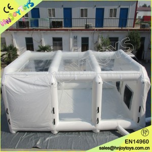 Paint Booth With PVC Transparent Roof