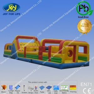65Ft inflatable Obstacle Course with higher quality