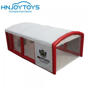 folding inflatable spray booth