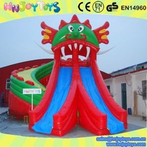 inflatable dragon slide for amusement park