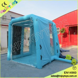 Furniture inflatable paint booth